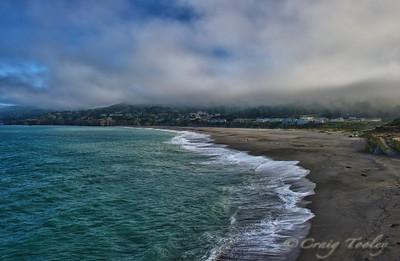 A  beach view of Gualala California.