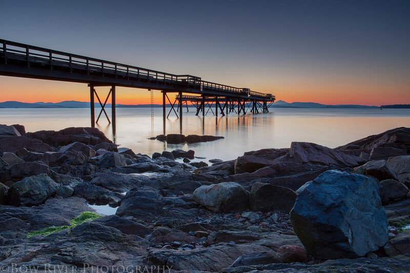 Pier at Bevan Avenue in Sidney, British Columbia. Prior to sunrise at approximately 5:45 am on April 22nd, 2013.