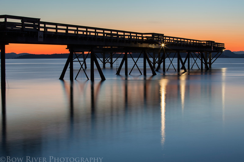 Pier at Bevan Avenue in Sidney, British Columbia. Prior to sunrise at approximately 5:30 am on April 22nd, 2013.