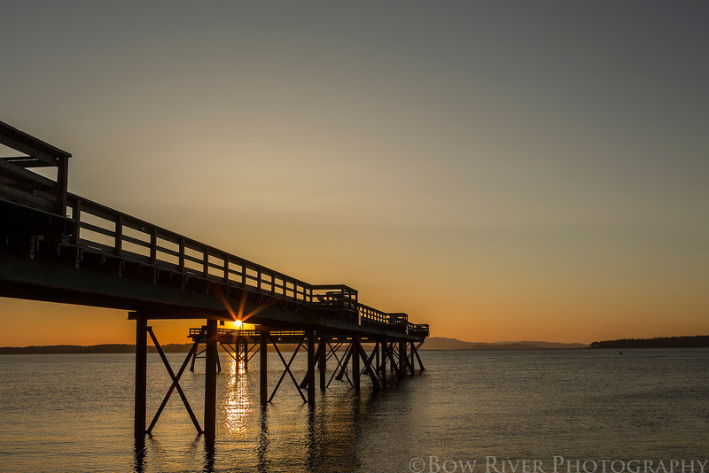 Pier at Bevan Avenue in Sidney, British Columbia.  Sunrise, 6:15 am on April 22nd, 2013.