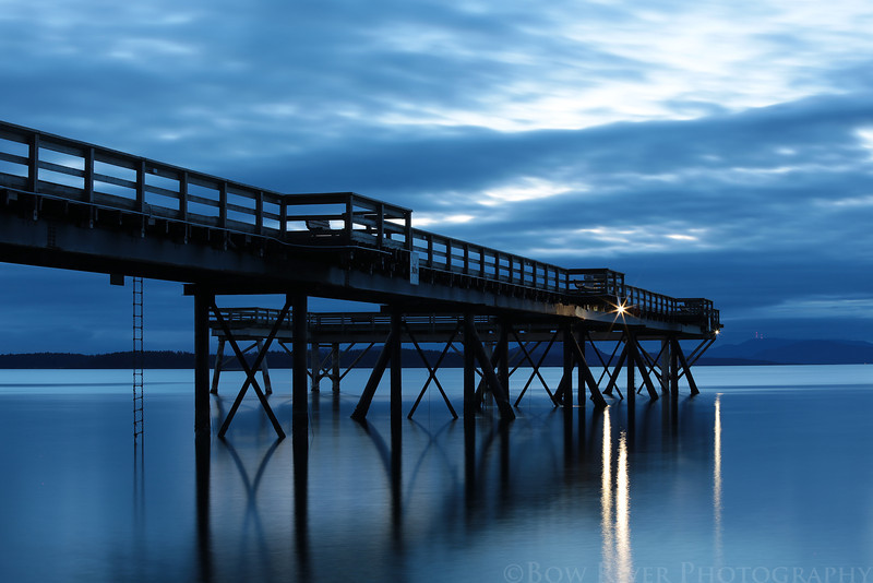 Pier at Bevan Avenue in Sidney, British Columbia.  Prior to sunrise at approximately 5:30 am on April 19, 2013.