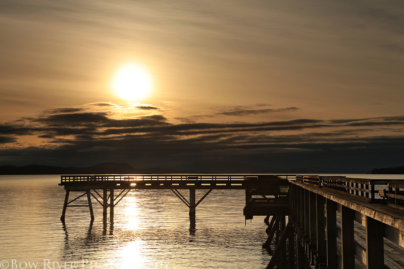 Pier at Bevan Avenue in Sidney, British Columbia. Approximately 6:30 am on April 19, 2013.