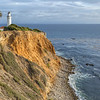 Lighthouse on the California Coast at Point Vincent, Palos Verdes
