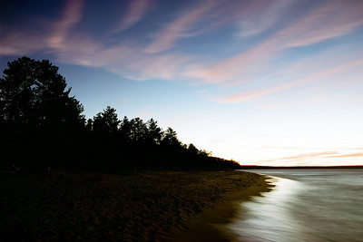 "A 1.5 minute exposure of a sunset on Miners Beach at the end of Co Rd H-13 north-northeast of Munising MI on Lake Superior.  *For information on purchasing prints and canvas gallery wraps, click the ""Purchasing"" tab at the top of the page. If viewing on your mobile device, scroll to the bottom of the page and click the ""Full Site"" tab to view as if you were on your home PC and then go to the ""Purchase"" tab to for purchasing info. In mobile mode, you will not see the standard navigation bar with the ""Purchase"" tab."