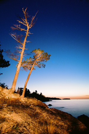 "A little fun with my flashlight during a sunset on Lake Superior, between Eagle Harbor and Copper Harbor.  *For information on purchasing prints and canvas gallery wraps, click the ""Purchasing"" tab at the top of the page. If viewing on your mobile device, scroll to the bottom of the page and click the ""Full Site"" tab to view as if you were on your home PC and then go to the ""Purchase"" tab to for purchasing info. In mobile mode, you will not see the standard navigation bar with the ""Purchase"" tab."