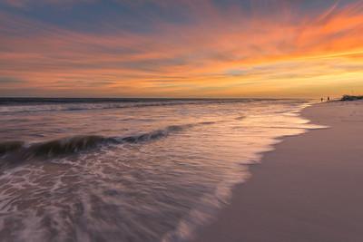Gulf Islands Beach Sunset After Michael