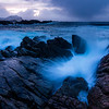Breakers and rocks, Rødnesset by Nyksund