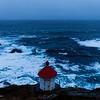 Facing the sea - Lighthouse, Nyksund island