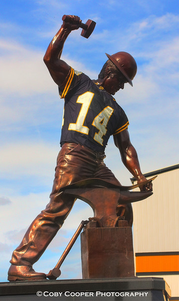 February 7, Super Bowl Sunday...In honor of New Orleans QB and his roots as a Purdue University Boilermaker, I had to go with this shot of Purdue Pete that stands proudly outside Purdue's Ross Aide Stadium. Hope everyone enjoys the game!!!