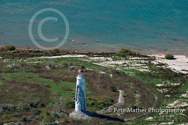This is the Nottawasaga Lighthouse which near Craigleith, Ontario, very close to Collingwood,Ontario, Blue Mountain,and  Thornbury Ontario. This is an aerial of the lighthouse.