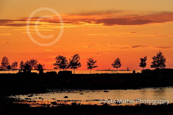 Collingwood Sun Set Point in June.