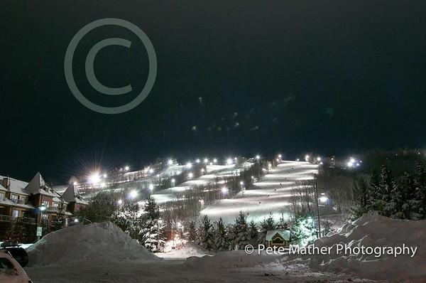 Night Skiing at Blue Mountain