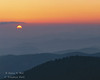 Sunrise. Great Smoky Mountains from Clingmans Dome