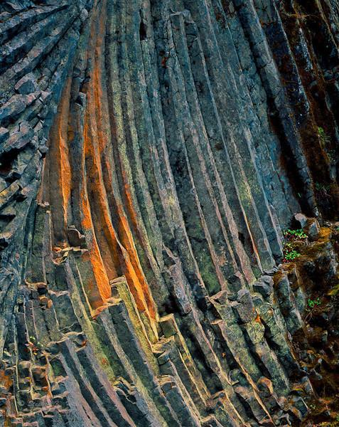 Detail, basalt wall