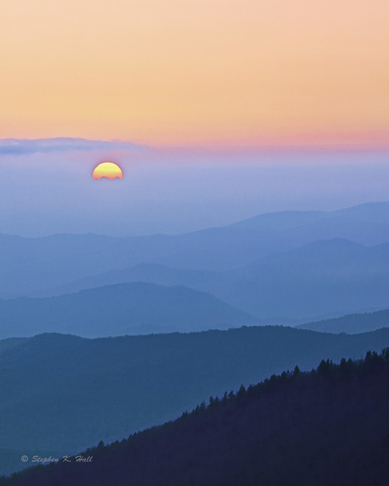 Sunrise, Great Smoky Mountains from Clingman's Dome