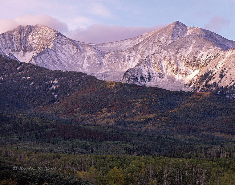 Morning light, Mount Sopris