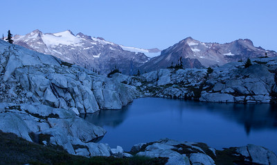 Early morning light on Mount Daniel. Robin Lakes, Washington