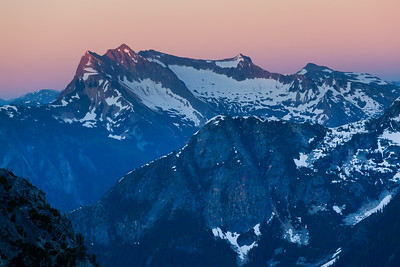 Alpenglow on Mount Redoubt