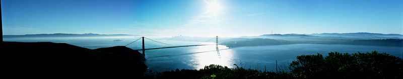 Golden Gate Bridge, color panorama
