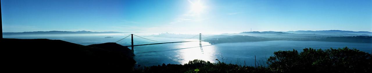 Golden Gate Bridge, color panorama