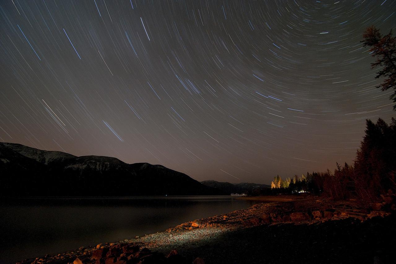 Kootenay Lake Startrails