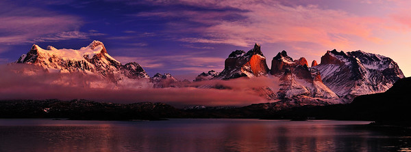 Sunrise on Lago Pehoe - Patagonia, Chile