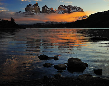 Sunrise over the Cuernos del Paine - Patagonia, Chile