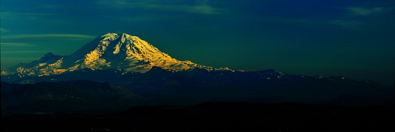 Last Light on Mount Rainier - Issaquah, Washington