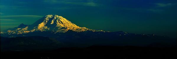 Last Light on Mount Rainier - Issaquah, Washington