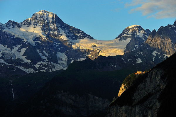 First Light on the Town of Mürren - Wengen, Switzerland