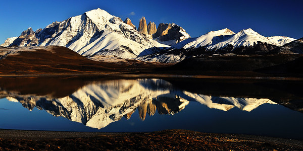 Laguna Amarga and the Torres del Paine - Patagonia, Chile