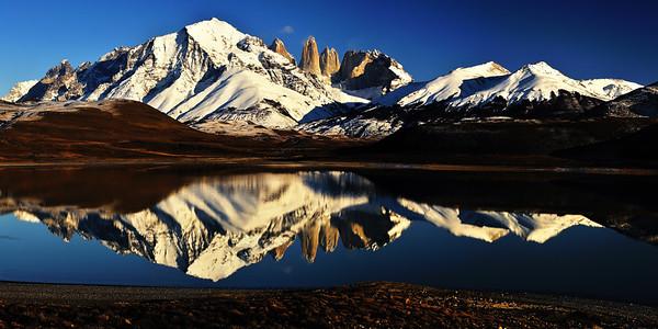 Laguna Amarga and the Torres del Paine - Patagonia, Chile