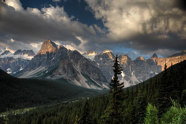 Sunrise over the Valley of the Ten Peaks - Alberta, Canada