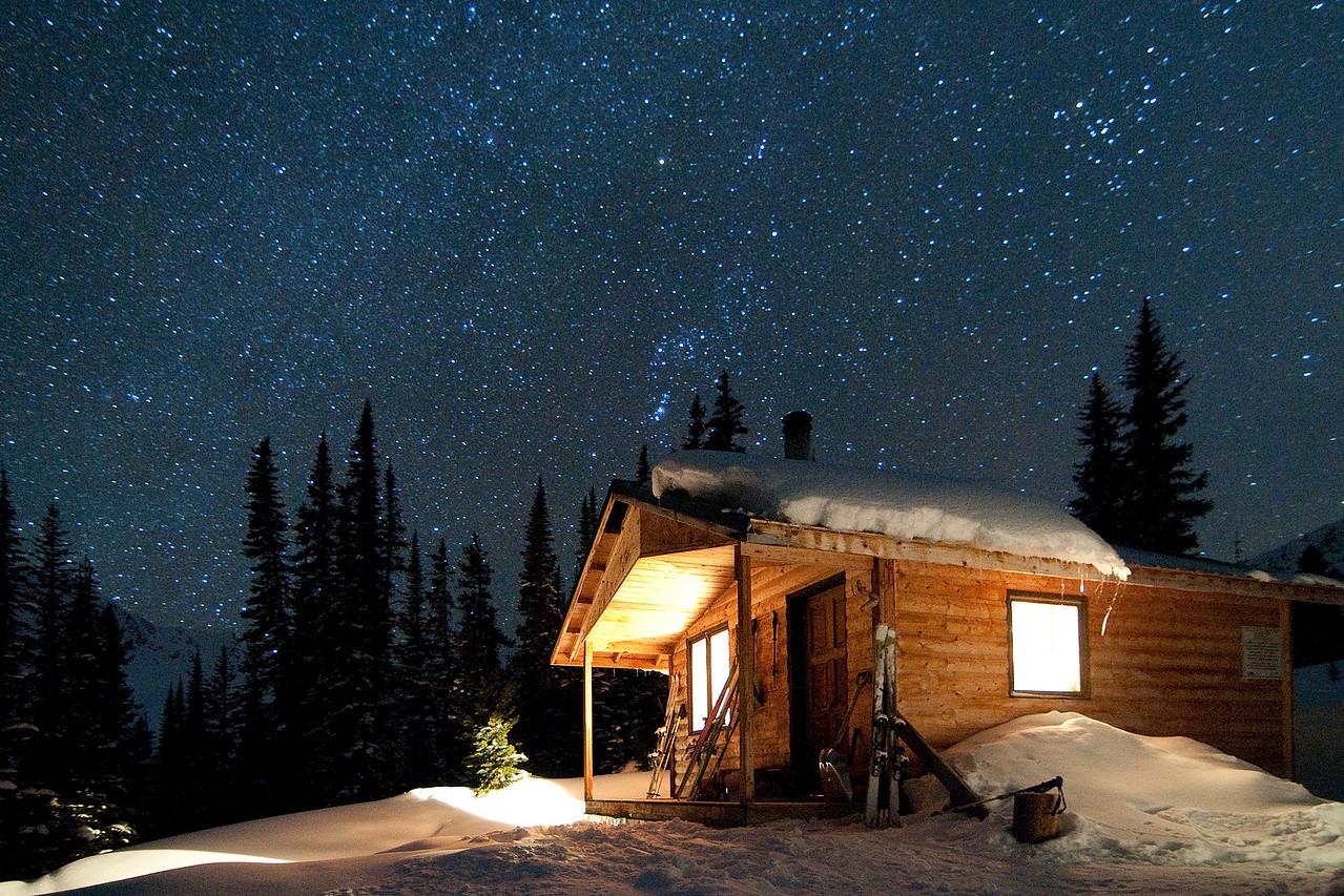 Stars out at Kingsbury Hut