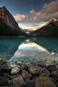 Stormy sunrise at Lake Louise - Alberta, Canada