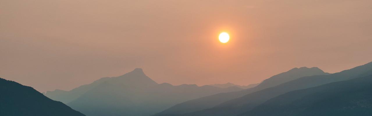 Smokey Sunset over Mount Nelson