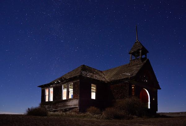 Govan Schoolhouse at Night