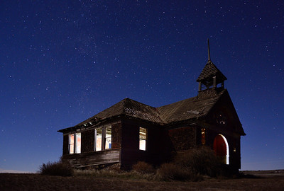 Govan Schoolhouse at Night
