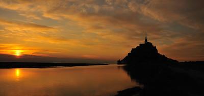 Mont Saint Michel Sunset - Normandy, France