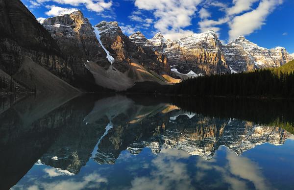 Reflection on Lake Moraine - Alberta, Canada