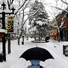 Suzanne Byers uses an umbrella to protect herself on the Pearl Street Mall during Thursdays snowstorm, in Boulder, CO, December 22, 2011. Up to 10 inches of snow blanketed the metro area and Front Range overnight, and an additional 1 to 3 inches are expected to fall before the storm moves out of Colorado. Craig F. Walker, The Denver Post