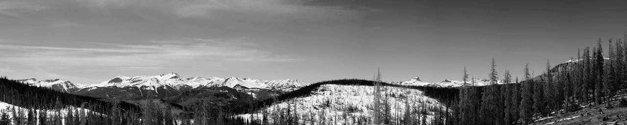 Redcloud and Sunshine from Slumgullion Pass