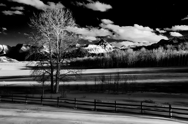 Mount Sneffels in Black and White