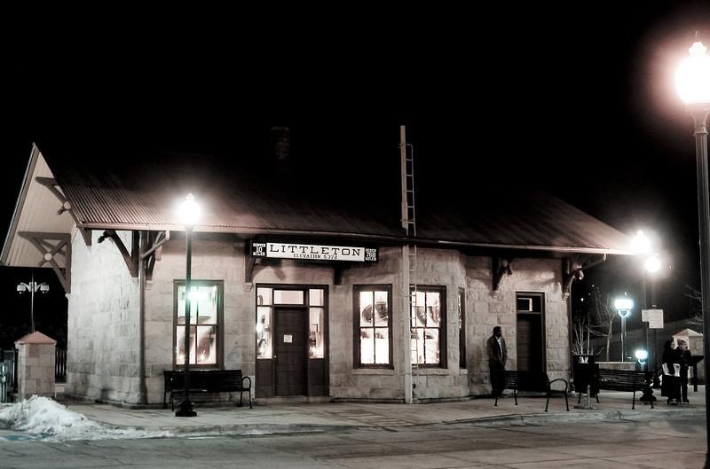 The Littleton light rail depot