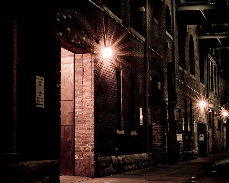 Late night in a Denver alley