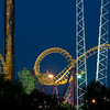 Elitch Garden's Amusement Park in the Denver night.