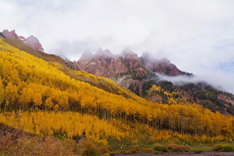 Autumn storms roll across the Maroon Creek wilderness; Colorado Elk Range.