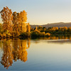 Reflections of fall in Littleton, Colorado