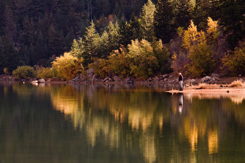 Reflections of fall on Georgetown Lake