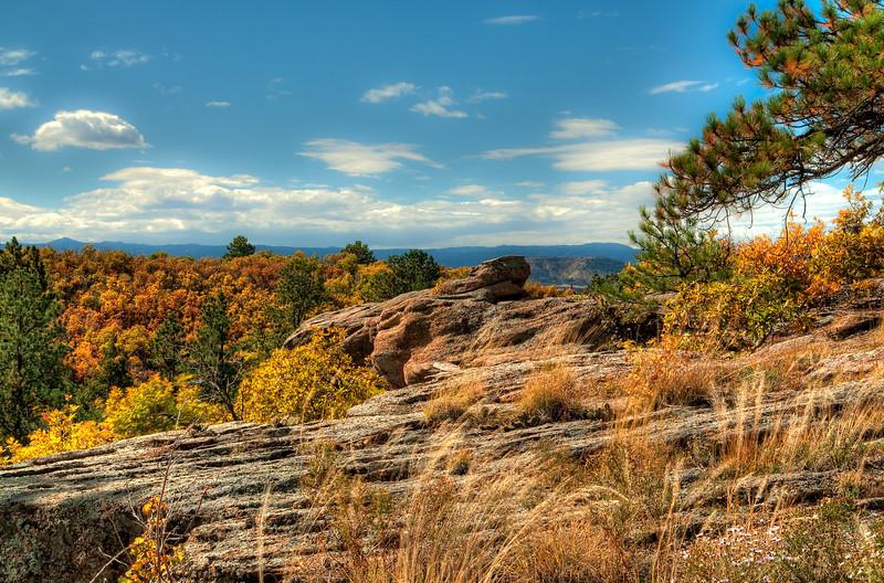 Fall colors in Castle Rock, Colorado